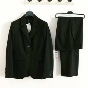Stile Benetton Black Pant Suit NWT